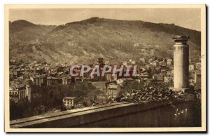 VINTAGE POSTCARD Royat the old city seen of the Paradise