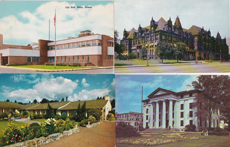 0074 Grabbag Auction 4 City Hall Postcards Starting At .99