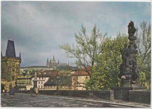 PRAHA, PRAGUE, Hradcany and Charles Bridge, Czech Republic, 1972 used Postcard