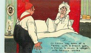 C-1910 Tom Browne Tavern Poison Comic Humor Davidson Postcard 21-9426