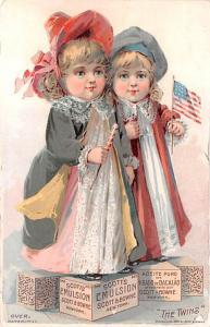 Medicine Advertising Old Vintage Antique Post Card Scott's Emulsion Trad...