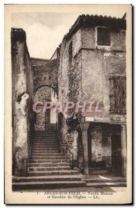 Old Postcard Arles Sur Tech Old house and stairs from L & # 39Eglise