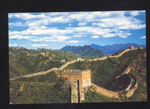THE GREAT WALL OF CHINA CHINESE POSTCARD