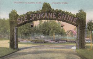 SPOKANE , Washington , 00-10s ; Entrance to Manito Park