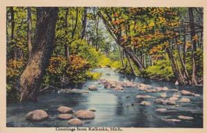 Michigan Greetings From Kalkaska 1940