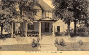 Morrison Illinois~EJ Weaver Home~Undertaker Embalmer~Furniture Store~1914 B&W PC