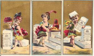 Isinglass Gelatin - Six Victorian Trade Cards