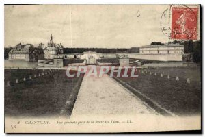 Old Postcard Chantilly General View from the Lions Road
