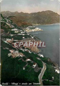 Modern Postcard Amalfi Villagi e strada per Sorrento