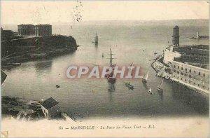 Old Postcard Marseille Vieux Port La Passe Boat