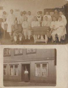 German Military Camp Chef Canteen Restaurant WW1 2x Postcard