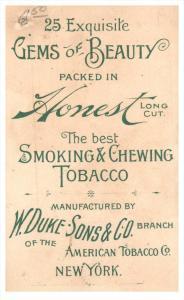 2176    W Duke Sons & Co - Cigarette Tobacco Card Gems of Beauty