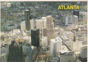 Georgia Atlanta Birds Eye View Of Downtown