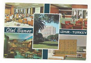 Turkey Izmir Hotel Taner Vintage Multiview Postcard Continental 4X6