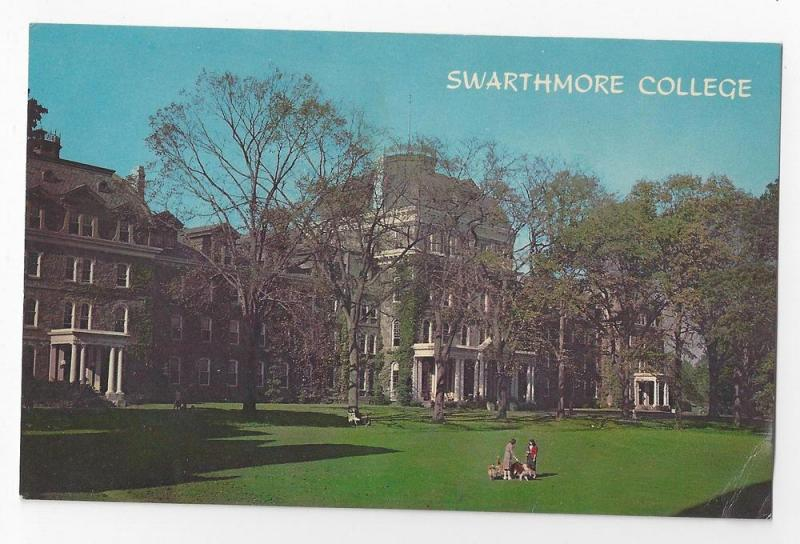 PA Swarthmore College  Parrish hall University Postcard