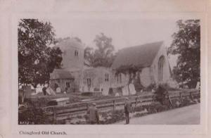 Chingford Church Pensioners Looking at Old View Real Photo Postcard