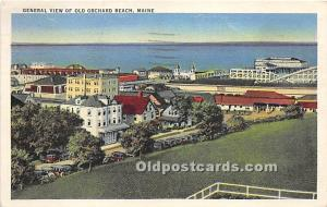 Maine, ME, USA Postcard General View of Old Orchard Beach 1936