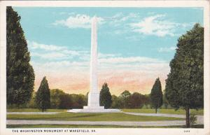 Virginia Wakefield The Washington Monument At Wakefield 1932