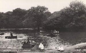 Bulrush Pond Walthamstow London Boats Vintage Real Photo Postcard