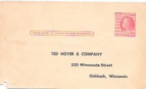 US  Pre-stamped unused Postcard UX38 Franklin