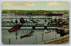 Providence Rhode Island~Ceekonk River Birdseye View @ Fort Hill~Ships~c1910
