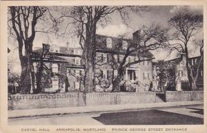 Carvel Hall Annapolis Maryland Prince George Street Entrance Annapolis Maryla...