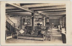 Mont Tremblent - ​ INTERIOR view of Mont Tremblent Lodge, still open 1940sl