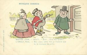 BOER WAR, Caricature, Known Music, John Bull Threatens Kruger with Gun (1899)