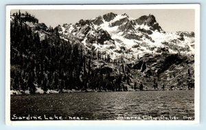 RPPC SIERRA CO, CA California  Beautiful SARDINE LAKE Scene  c1940s Postcard