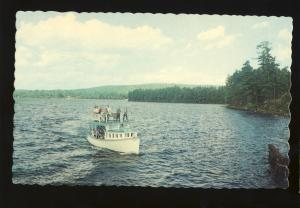 Naples, Maine/ME Postcard, Mail Boat Jerrico On Long Lake