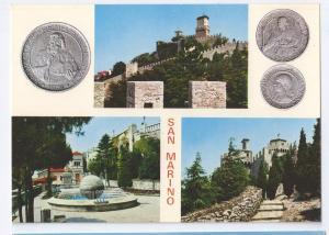 San Marino Coins Multiview Postcard 4X6