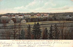 Woman's Building and Catholic Chapel Craigs Colony, Sonyea, NY USA Shaker 1908