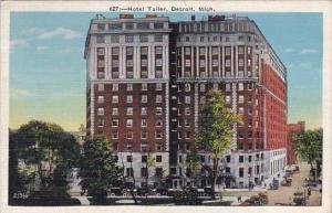 Michigan Detroit Hotel Tuller 1937