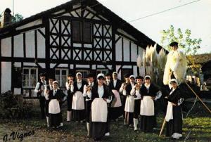 French Folk Band Crabots De Semisens 1970s Postcard Fashion France Costume Photo