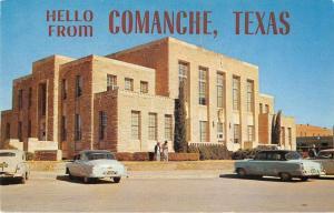 Comache Texas Greetings Courthouse Antique Postcard J51394