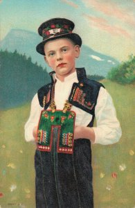 Germany Boy in traditional clothing 02.98