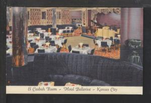 El Cabash Room,Hotel Belerive,Kansas City,MO Postcard