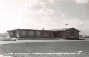 Estherville Iowa~One-Story Redeemer Lutheran  Church~RPPC c1950 Postcard