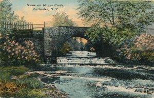 Scene at Allens Creek Bridge - Rochester, New York - pm 1912 - DB