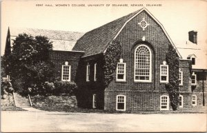 Delaware Newark University of DE Kent Hall Women's College Postcard unused 1920s