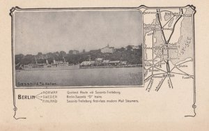 BERLIN, Germany, 1900-1910s; Sassnitz o/r Hafen , Map