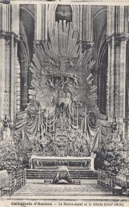 Amiens La Cathedrale La Maitre Autel Et La Gloire Religious Postcard