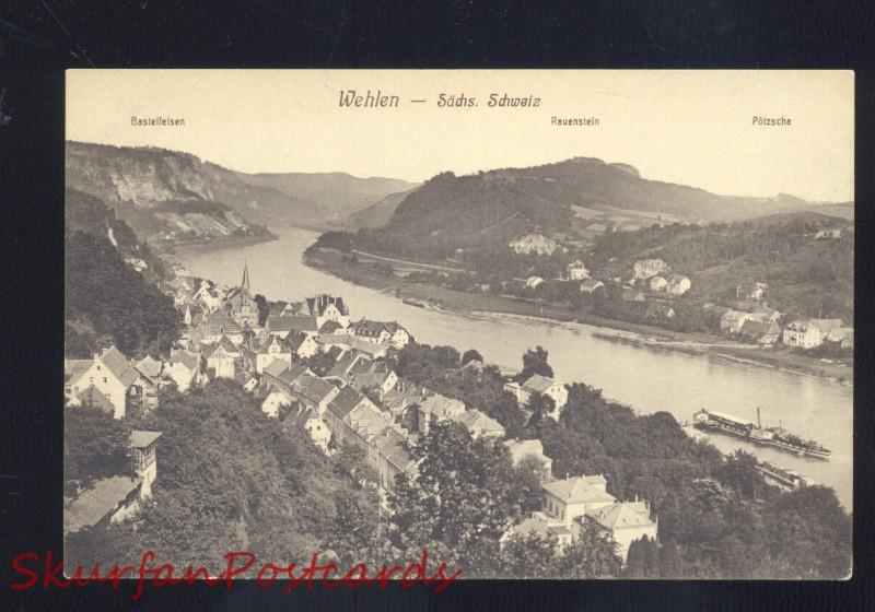 WEHLEN HERMANY SACHS SCHWEIZ REUENSTEIN GERMAN ANTIQUE VINTAGE POSTCARD