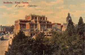 Royal Opera House, Stockholm, Sweden, Early Postcard, Unused