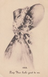 LEAP YEAR 1908 ; Bonnet Girl
