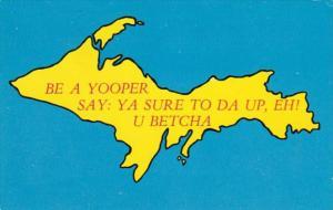 Map Of Upper Peninsula Of Michigan 1987