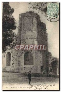 Old Postcard Nimes The Magne tower