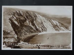 Dorset THE CLIFFS at LULWORTH COVE c1947 RP Postcard by Valentine