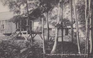 Maine Oakland Log Cabins At Clements Camps Artvue