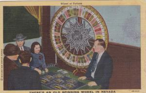 There's An Old Spinning Wheel In Nevada, 30-40s ; Interior, Wheel Of Fortune